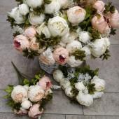 Цветы искусственные пион барокко