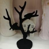 """Подставка для колец и других украшений """"Дерево с птичками"""" бархат"""