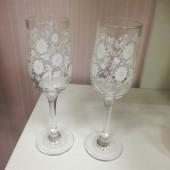 Свадебные бокалы, набор, 6 штук